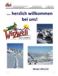 Gruppenangebote Winter 2011/2012 - Wirzweli