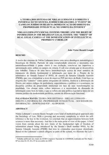 8340 a teoria dos sistemas de niklas luhmann eo ... - publicaDireito