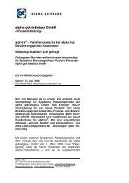 alpha getriebebau GmbH - Wittenstein AG