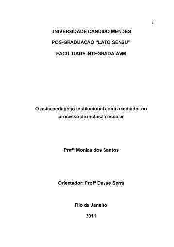 A Psicopedagogia - AVM Faculdade Integrada