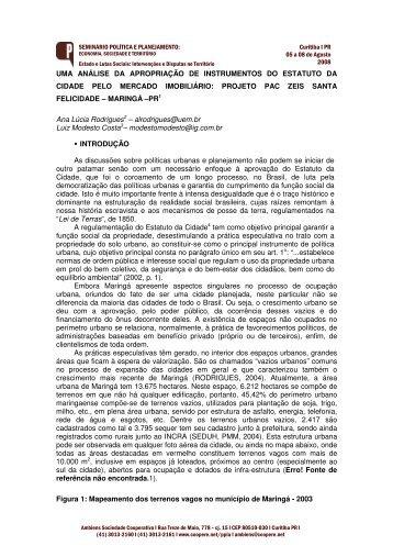 UMA ANÁLISE DA APROPRIAÇÃO DE INSTRUMENTOS DO ... - UEM