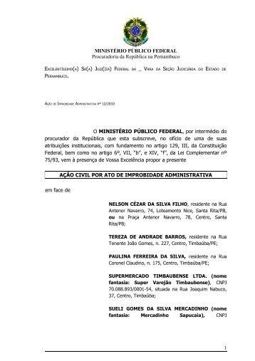MINISTÉRIO PÚBLICO FEDERAL Procuradoria da República na ...