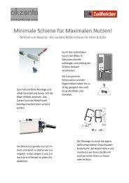 Minimale Schiene für Maxi inimale Schiene für Maximalen Nutzen ...