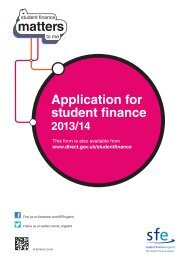 Application for student finance