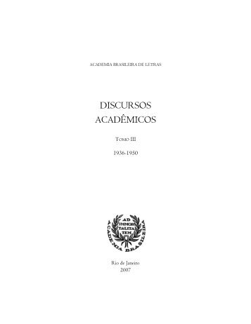 livro todo tomo III.qxd - Academia Brasileira de Letras