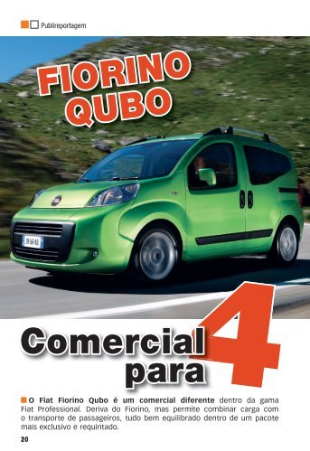 Comercial para FIORINO QUBO - Fiat Professional