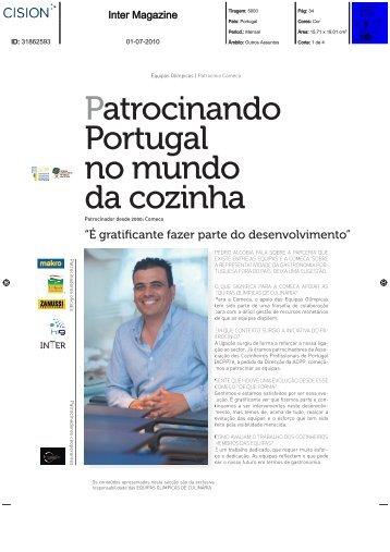 Patrocinando Portugal no mundo da cozinha