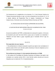 Convocatoria Interina 2012-2 - Tecnológico de Estudios Superiores ...