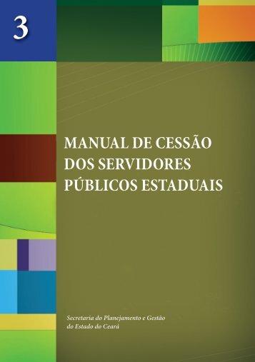 MANUAL DE CESSÃO DOS SERVIDORES PÚBLICOS ESTADUAIS