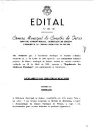 EDITAL - Câmara Municipal de Oeiras