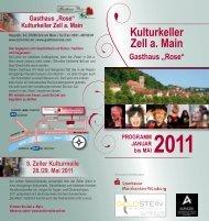 """Kulturkeller Zell a. Main Gasthaus """"Rose"""" - Marktgemeinde Zell am ..."""