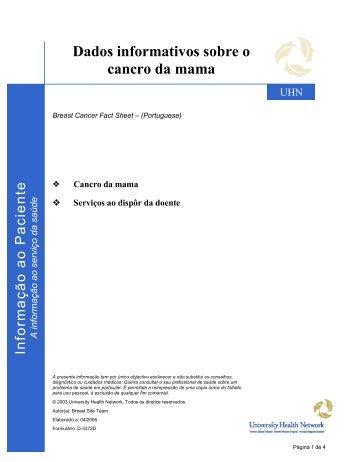 Breast Cancer Fact Sheet - University Health Network