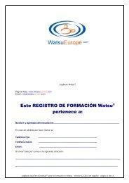 Registro de la Formación Watsu - WatsuEurope