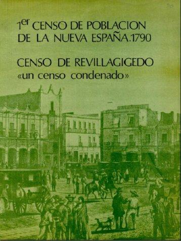 Primer censo de población de la Nueva España. 1790 - Inegi