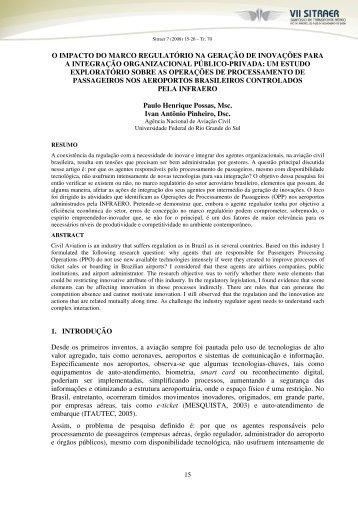 o impacto do marco regulatório na geração de inovações para ... - TGL