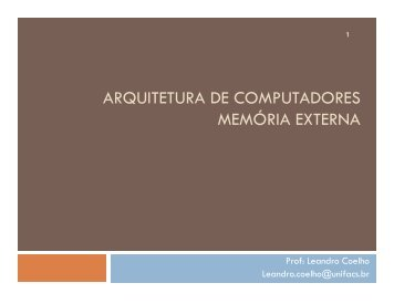 Técnicas de Entrada-Saída (PDF) - ACSO