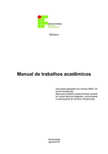 Manual para trabalhos gerais - IFSP