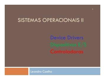 Dispositivos de Entrada e Saída (PDF) - ACSO
