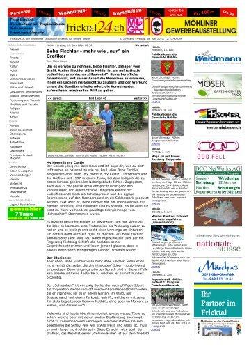 """fricktal24.ch - Bebe Fischler - mehr wie """"nur"""" ein ... - Atelier Fischler AG"""