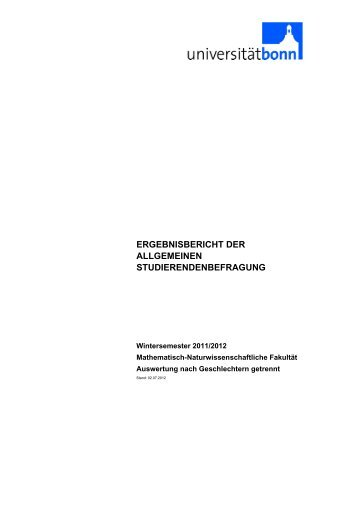 Mathematisch-Naturwissenschaftliche Fakultät - ZEM - Universität ...