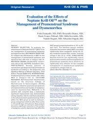 Evaluation of the  Effects of Neptune Krill Oil - Zentrum der Gesundheit