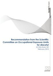 Recommendation from the Scientific Committee on Occupational ...