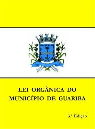 Lei Orgânica - Câmara Municipal de Guariba