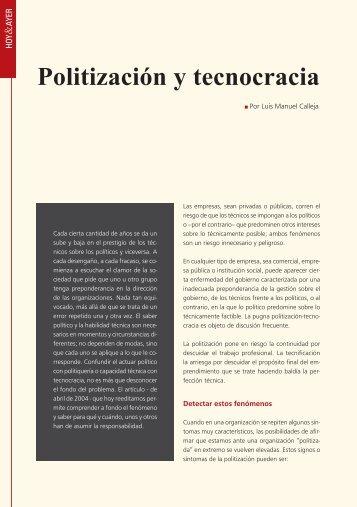 Politización y tecnogracia - IEEM