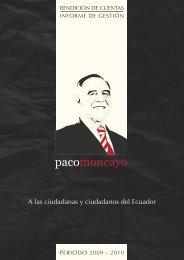 A las ciudadanas y ciudadanos del Ecuador - Paco Moncayo
