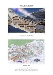 Sales Details Haus Meric - Zermatt Luxury Property Development in ...
