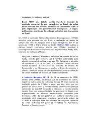 Cronologia do embargo judicial - Embrapa Soja