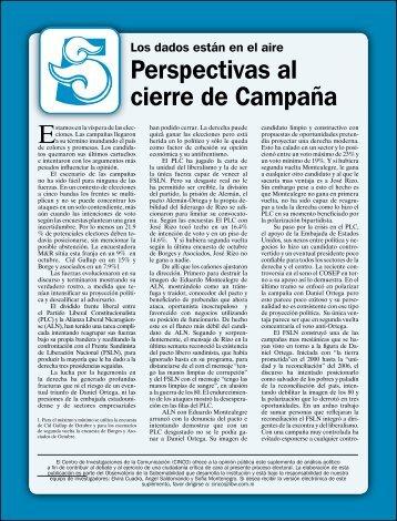 perspectivas al cierre de campaña - Confidencial
