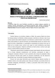 MAGIA E FEITIÇARIA NA COLÔNIA: A ... - História Livre