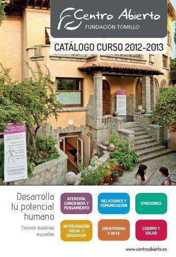 CatÁlogo Curso 2012-2013 - Centro Abierto