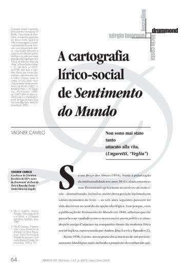 """""""A Cartografia Lírico-social de Sentimento do Mundo"""". Dossiê ... - USP"""