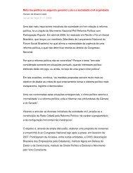 Reforma política no segundo governo Lula e a sociedade ... - DHnet
