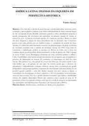 américa latina: dilemas da esquerda em perspectiva histórica