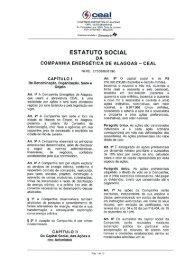 COMPANHIA ENERGÉTICA DE ALAGOAS CNPJ 12.272.084/0001-00