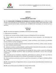 Estatuto - ACEVIS - Associação Catarinense das Empresas ...