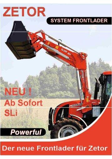 Technische Details Frontlader SLi in PDF - Zetor Deutschland GmbH