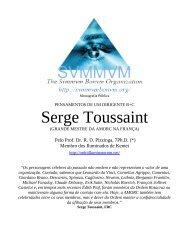 Pensamentos de Serge Toussaint - Ordo Svmmvm Bonvm