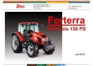 Datenblatt zum FORTERRA - Zetor Deutschland GmbH