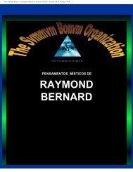 Pensamentos Místicos de Raymond Bernard - Ordo Svmmvm Bonvm