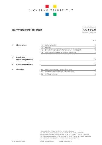 Wärmeträgerölanlagen – 1321-00.d - Swissi