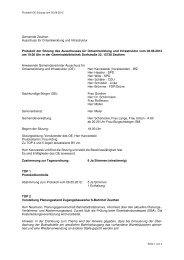 Gemeinde Zeuthen Ausschuss für Ortsentwicklung und Infrastruktur ...