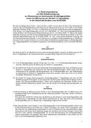Kita-Gebührensatzung - in der Gemeinde Zeuthen