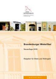 Brandenburger Mieterfibel 2009 - in der Gemeinde Zeuthen
