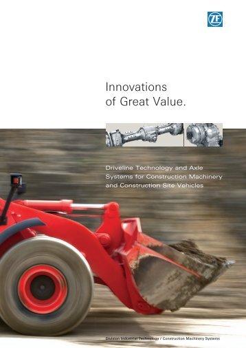 brochure Construction Machinery Systems - ZF Friedrichshafen AG