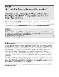 """Infoblatt: """"Ich möchte Psychotherapeut/-in werden - pia-im-streik"""
