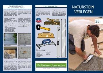 NATURSTEIN VERLEGEN - Raiffeisen Baucenter